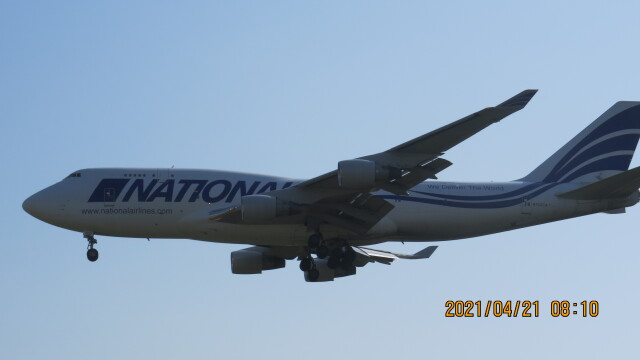 yurtarouさんが、成田国際空港で撮影したナショナル・エアラインズ 747-412(BCF)の航空フォト(飛行機 写真・画像)