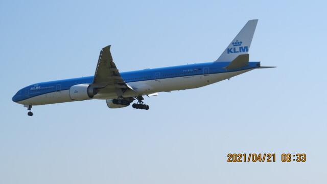 yurtarouさんが、成田国際空港で撮影したKLMオランダ航空 777-306/ERの航空フォト(飛行機 写真・画像)