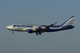 sepia2016さんが、成田国際空港で撮影したナショナル・エアラインズ 747-428(BCF)の航空フォト(飛行機 写真・画像)