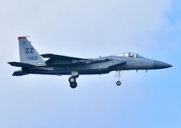 じーく。さんが、嘉手納飛行場で撮影したアメリカ空軍 F-15C-39-MC Eagleの航空フォト(飛行機 写真・画像)