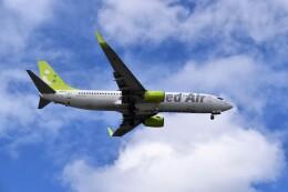 こじゆきさんが、那覇空港で撮影したソラシド エア 737-81Dの航空フォト(飛行機 写真・画像)