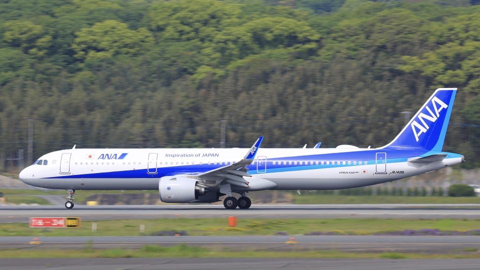 aki241012さんの全日空 Airbus A321neo (JA148A) 航空フォト