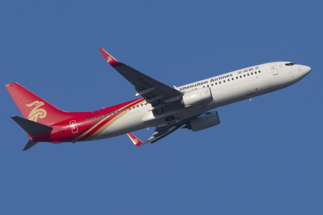 mameshibaさんが、成田国際空港で撮影した深圳航空 737-87Lの航空フォト(飛行機 写真・画像)