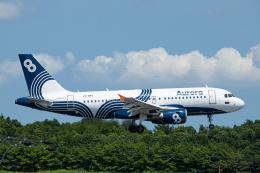 SGR RT 改さんが、成田国際空港で撮影したオーロラ A319-112の航空フォト(飛行機 写真・画像)