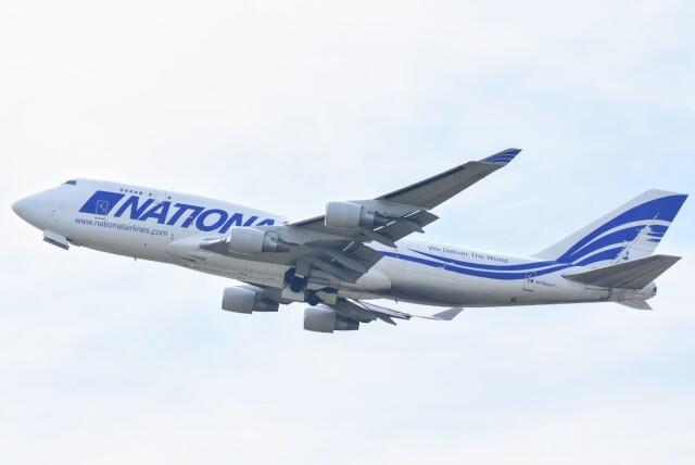 M.Tさんが、関西国際空港で撮影したナショナル・エアラインズ 747-412(BCF)の航空フォト(飛行機 写真・画像)