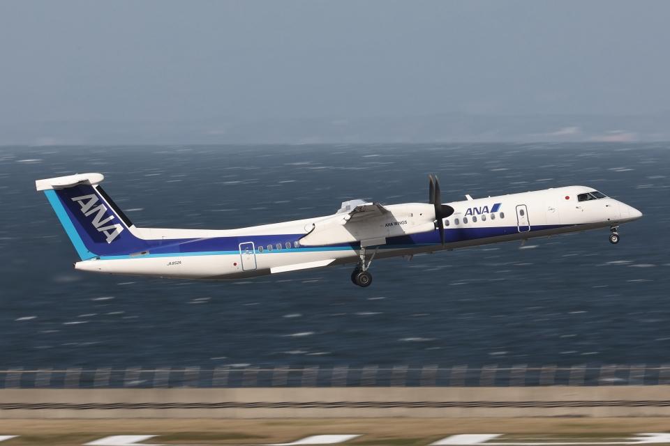 わんだーさんのANAウイングス Bombardier DHC-8-400 (JA852A) 航空フォト