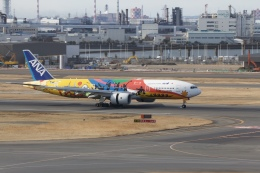 344さんが、羽田空港で撮影した全日空 777-281/ERの航空フォト(飛行機 写真・画像)