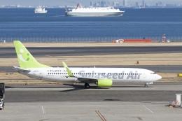 344さんが、羽田空港で撮影したソラシド エア 737-81Dの航空フォト(飛行機 写真・画像)