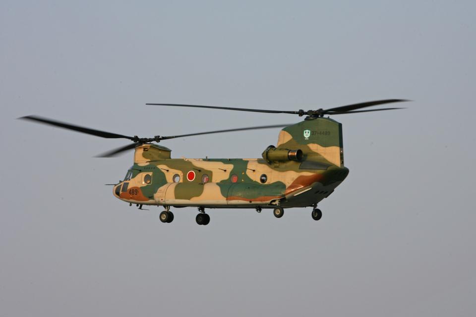 tsubameさんの航空自衛隊 Kawasaki CH-47J Chinook (37-4489) 航空フォト