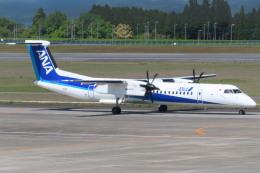 KT 327@KOJさんが、鹿児島空港で撮影したANAウイングス DHC-8-402Q Dash 8の航空フォト(飛行機 写真・画像)