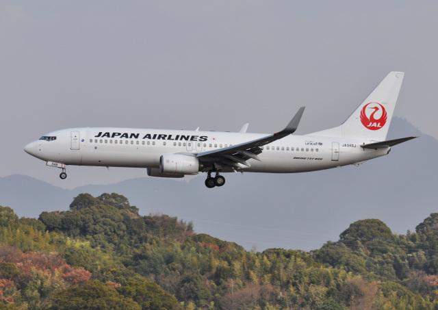 チャーリーマイクさんが、福岡空港で撮影した日本航空 737-846の航空フォト(飛行機 写真・画像)