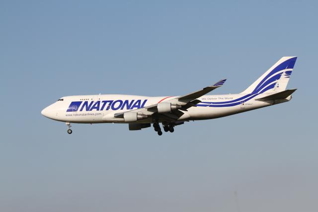 ベリックさんが、成田国際空港で撮影したナショナル・エアラインズ 747-412(BCF)の航空フォト(飛行機 写真・画像)