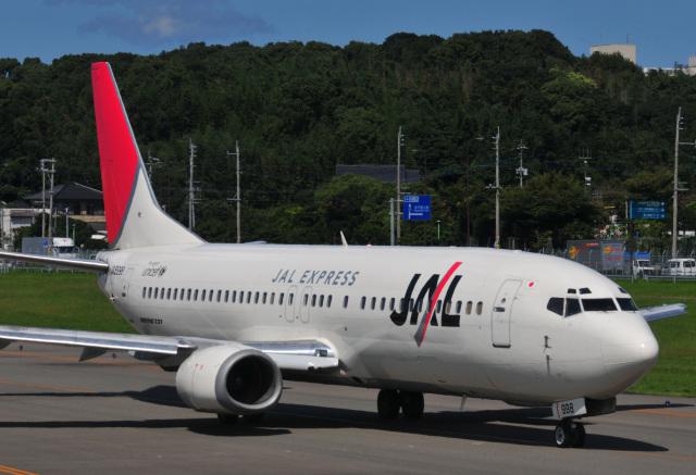 チャーリーマイクさんが、福岡空港で撮影したJALエクスプレス 737-446の航空フォト(飛行機 写真・画像)