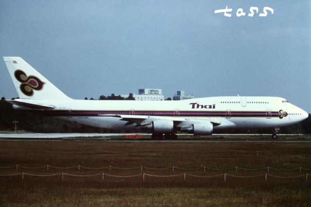 tassさんが、成田国際空港で撮影したタイ国際航空 747-3D7の航空フォト(飛行機 写真・画像)