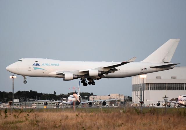 雲霧さんが、成田国際空港で撮影したASLエアラインズ・ベルギー 747-4B5F/ER/SCDの航空フォト(飛行機 写真・画像)