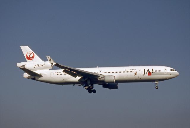JAパイロットさんが、成田国際空港で撮影した日本航空 MD-11の航空フォト(飛行機 写真・画像)
