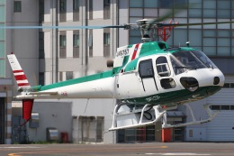 きりしまさんが、東京ヘリポートで撮影したアカギヘリコプター AS350B Ecureuilの航空フォト(飛行機 写真・画像)