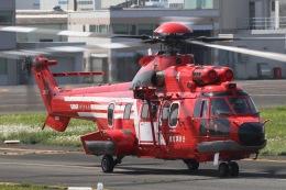 きりしまさんが、東京ヘリポートで撮影した東京消防庁航空隊 EC225LP Super Puma Mk2+の航空フォト(飛行機 写真・画像)