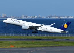 じーく。さんが、羽田空港で撮影したルフトハンザドイツ航空 A350-941の航空フォト(飛行機 写真・画像)