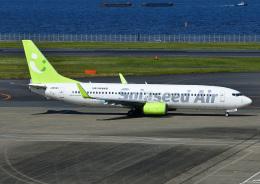 じーく。さんが、羽田空港で撮影したソラシド エア 737-81Dの航空フォト(飛行機 写真・画像)