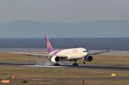 ゆなりあさんが、中部国際空港で撮影したタイ国際航空 777-2D7/ERの航空フォト(飛行機 写真・画像)