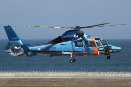 MOR1(新アカウント)さんが、大分空港で撮影した広島県警察 AS365N3 Dauphin 2の航空フォト(飛行機 写真・画像)