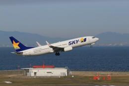 ゆなりあさんが、中部国際空港で撮影したスカイマーク 737-8ALの航空フォト(飛行機 写真・画像)