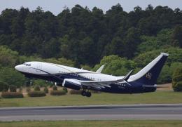 maru74さんが、成田国際空港で撮影したボーイング・ビジネス・ジェット 737-77Z BBJの航空フォト(飛行機 写真・画像)