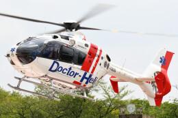 ほてるやんきーさんが、愛知医科大学病院で撮影した中日本航空 EC135P2+の航空フォト(飛行機 写真・画像)