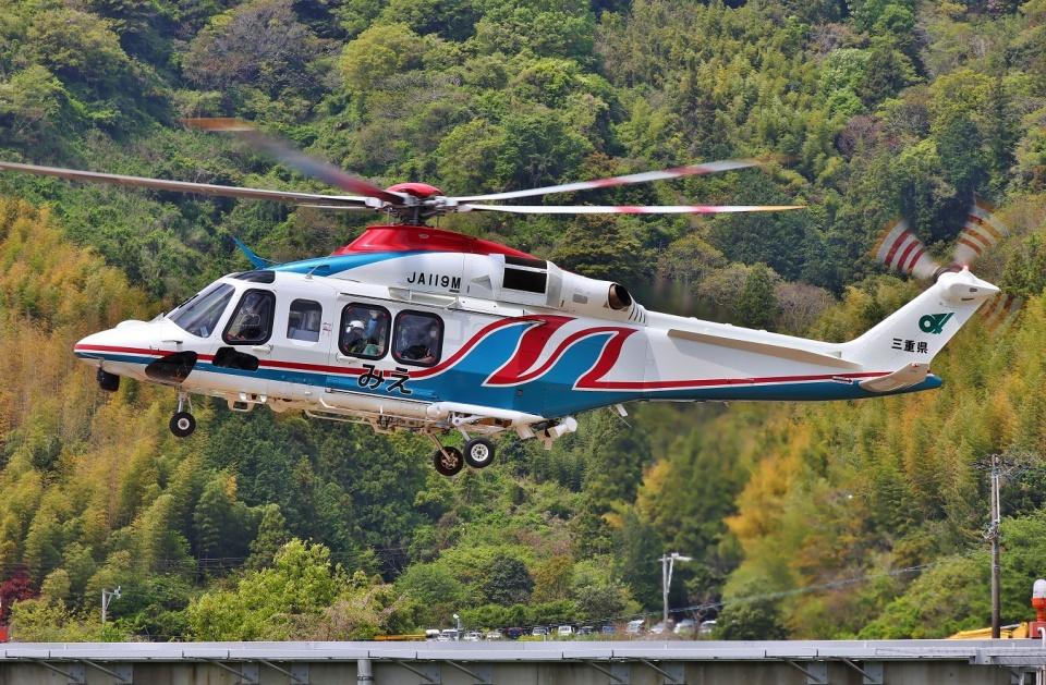 ブルーさんさんの三重県防災航空隊 AgustaWestland AW139 (JA119M) 航空フォト