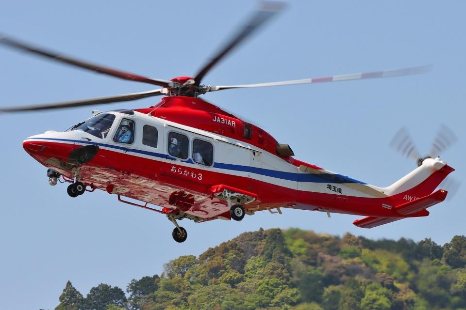 ブルーさんさんの埼玉県防災航空隊 AgustaWestland AW139 (JA31AR) 航空フォト