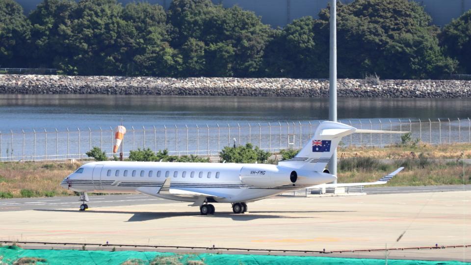 誘喜さんのオーストラリア企業所有 Bombardier BD-700 Global Express/5000/6000 (VH-FMG) 航空フォト