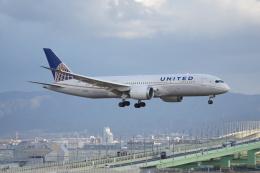 磐城さんが、関西国際空港で撮影したユナイテッド航空 787-8 Dreamlinerの航空フォト(飛行機 写真・画像)