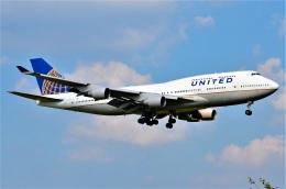 amagoさんが、成田国際空港で撮影したユナイテッド航空 747-422の航空フォト(飛行機 写真・画像)