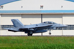 szkkjさんが、厚木飛行場で撮影したアメリカ海軍 F/A-18F Super Hornetの航空フォト(飛行機 写真・画像)