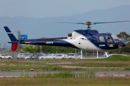 (新)ふぁんとむ改さんが、佐賀空港で撮影したエス・ジー・シー佐賀航空 AS350B Ecureuilの航空フォト(飛行機 写真・画像)