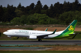 チャーリーマイクさんが、成田国際空港で撮影した春秋航空日本 737-8ALの航空フォト(飛行機 写真・画像)