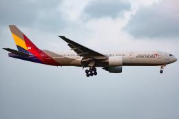 KoshiTomoさんが、成田国際空港で撮影したアシアナ航空 777-28E/ERの航空フォト(飛行機 写真・画像)
