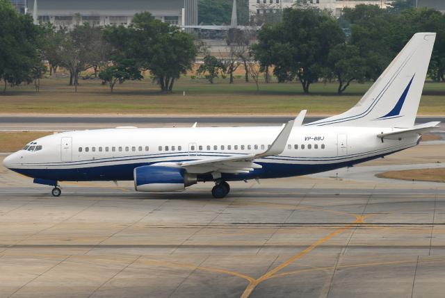 jun☆さんが、ドンムアン空港で撮影したイギリス企業所有 737-72U BBJの航空フォト(飛行機 写真・画像)
