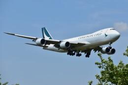 しめぎさんが、成田国際空港で撮影したキャセイパシフィック航空 747-867F/SCDの航空フォト(飛行機 写真・画像)