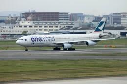 ansett747さんが、福岡空港で撮影したキャセイパシフィック航空 A340-313Xの航空フォト(飛行機 写真・画像)