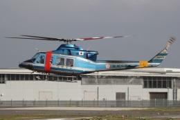 MOR1(新アカウント)さんが、奈多ヘリポートで撮影した福岡県警察 412EPの航空フォト(飛行機 写真・画像)