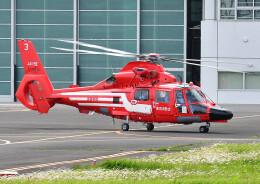 じーく。さんが、東京ヘリポートで撮影した東京消防庁航空隊 AS365N3 Dauphin 2の航空フォト(飛行機 写真・画像)