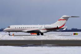 yabyanさんが、新千歳空港で撮影したプライベートエア BD-700-1A10 Global Expressの航空フォト(飛行機 写真・画像)