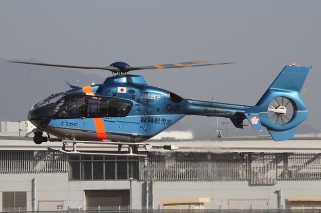 MOR1(新アカウント)さんが、奈多ヘリポートで撮影した福岡県警察 EC135P2+の航空フォト(飛行機 写真・画像)