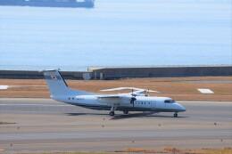 わだつみさんが、中部国際空港で撮影した国土交通省 航空局 DHC-8-315Q Dash 8の航空フォト(飛行機 写真・画像)