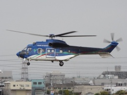 YaoRJOYさんが、八尾空港で撮影した東北エアサービス AS332L1 Super Pumaの航空フォト(飛行機 写真・画像)