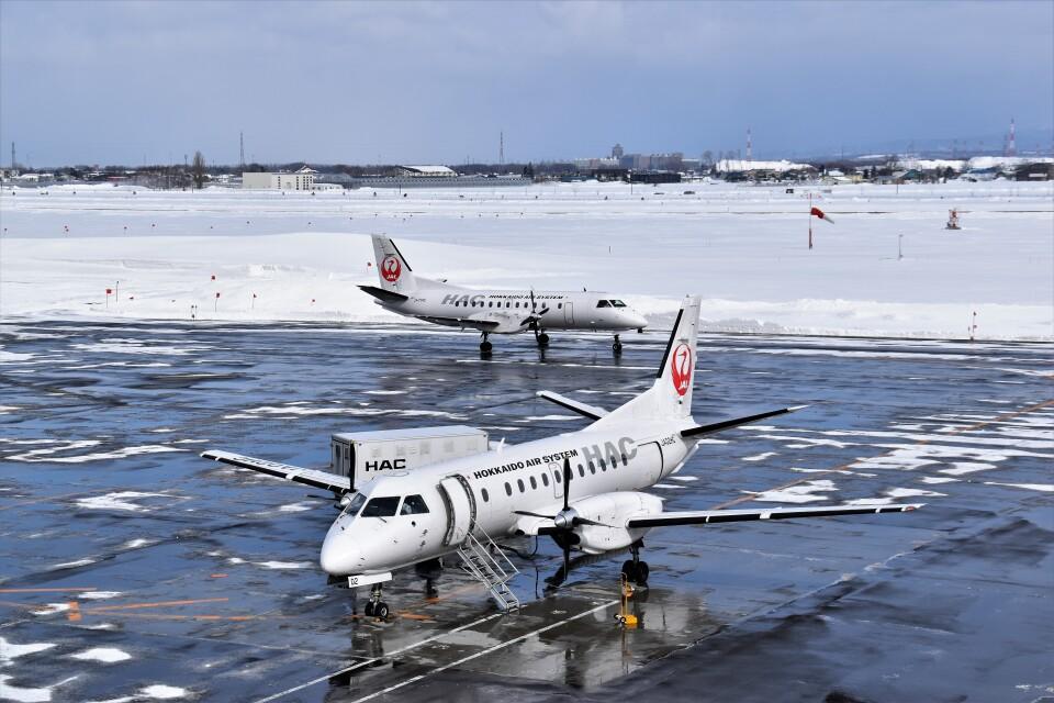 こじゆきさんの北海道エアシステム Saab 340 (JA02HC) 航空フォト