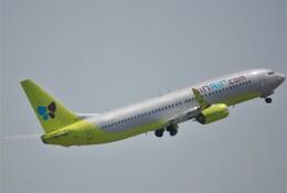 takikoki50000さんが、関西国際空港で撮影したジンエアー 737-8SHの航空フォト(飛行機 写真・画像)