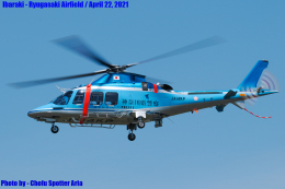 Chofu Spotter Ariaさんが、龍ケ崎飛行場で撮影した神奈川県警察 AW109SPの航空フォト(飛行機 写真・画像)